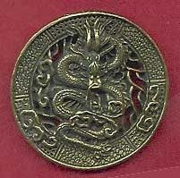 Chinese Dragon Necklace Pendant Made of Brass