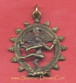Dancing Shiva Pendant Made of Brass