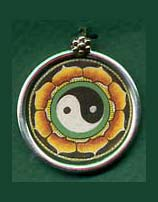 Painted Yin Yang Necklace Pendant