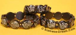 Resin Om Bracelets, Adjustable