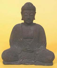 Buddha in the pose of meditation