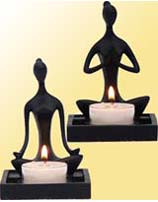 Yoga Pose Candle Holders