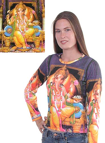 Ganesh Shirt in Purple