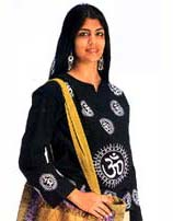 Ladies Om Top Tunic (Kurta), 100% Cotton
