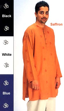 Long Cotton Om Tunics (Kurtas)