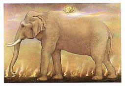 Journey Thai Elephant Greetng Card