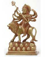Goddess Durga Statue, 7 Inches