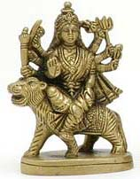 Durga on Tiger Figure