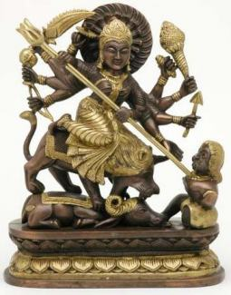 Big Durga Statue Riding a Lion
