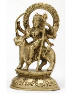 Goddess Durga with Halo Statue