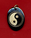 Yin Yang Pendant Made of Resin