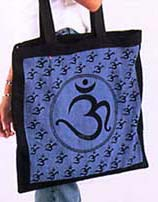 Om Symbol Shoulder Bags, Single Color