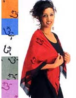 Cotton Om Scarves - Shawls from India
