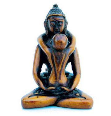 Buddha Shakti Figurine, Resin