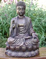 Chinese Buddha Statue With Antique Finish