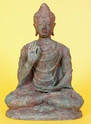 Photo of Buddha statue displaying the Vitarka Mudra