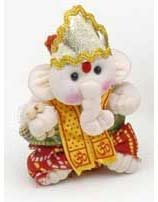 Ganesh Doll, 3 Inch Cotton Ganesha Ornamanets
