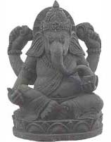 Black Ganesh Statue Made of Sandstone