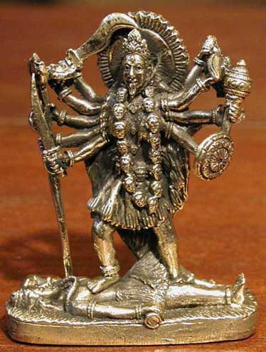 Metal Kali Figurine, 3 Inches