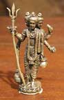 Hindu Trinity Figurine, 1.5 Inches