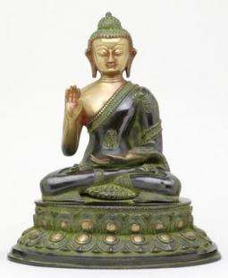 Black Buddha Statue of Protection