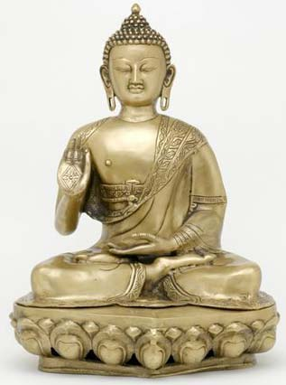 Seated Buddha Statues From India 20 Inches Tall The