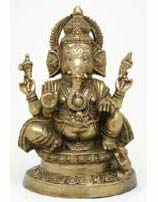 Sitting Ganesha Statue, 18 Inches Tall