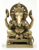 Ganesh Sitting Statue Made of Brass