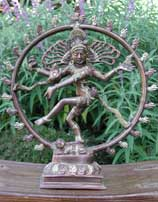 Dancing Shiva Statue with Dark Bronze Finish