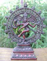 Dancing Shiva Statue in Resin, 9 Inches Tall