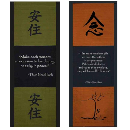 Thich Nhat Hanh Quotes On Wall Scrolls The Buddha Garden