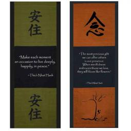 Thich Nhat Hanh Quotes on Wall Scrolls