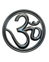 Black Wood Om Symbol 12 Inches Tall