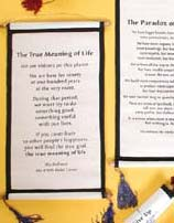 Dalai Lama Quotes on Cloth Wall Hangings