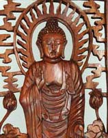 Buddha on Lotus Wall Hanging, 20 Inches Tall