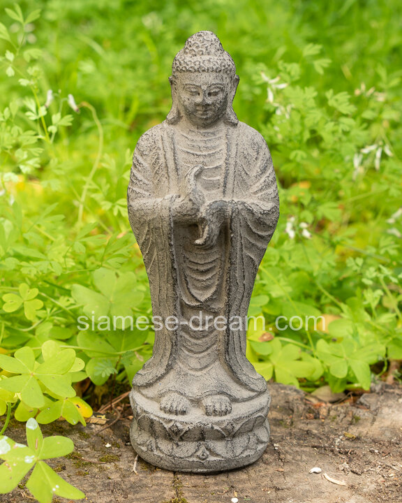 Lava Stone Buddha Statue From Bali, Buddha Garden Statues