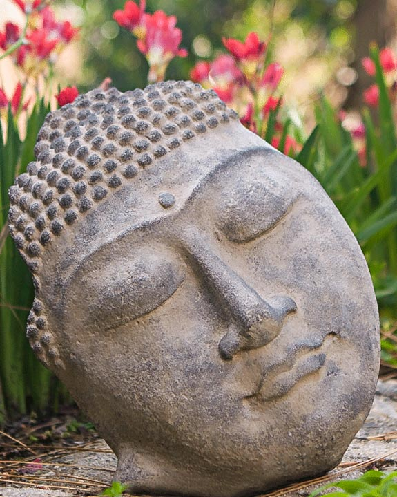 Merveilleux Stone Serenity Buddha Face Statue
