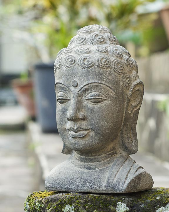 Ordinaire Stone Buddha Head Statue, 8 Inches