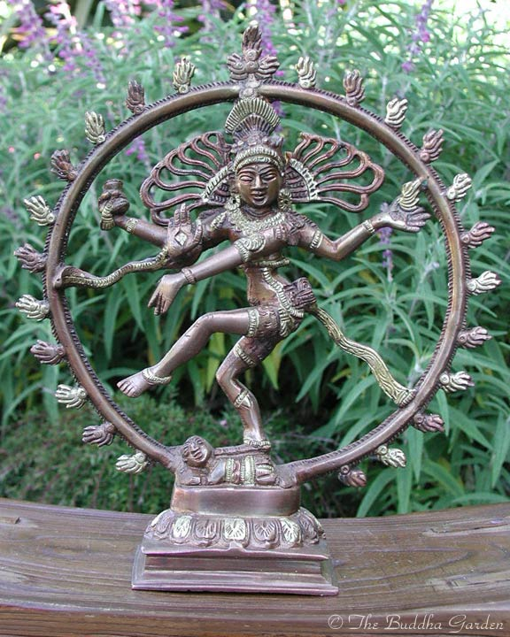 dancing shiva statue with dark bronze finish the buddha garden. Black Bedroom Furniture Sets. Home Design Ideas