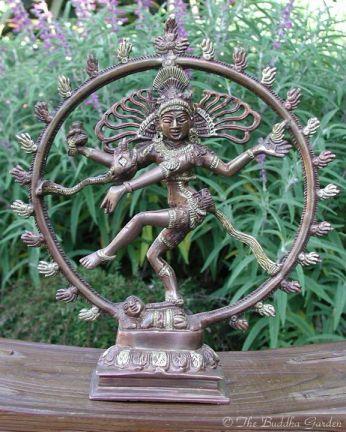 Dancing Shiva Statue With Dark Bronze Finish The Buddha