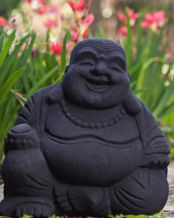 Laughing Buddha Statues in Sand Stone Multiple Colors The
