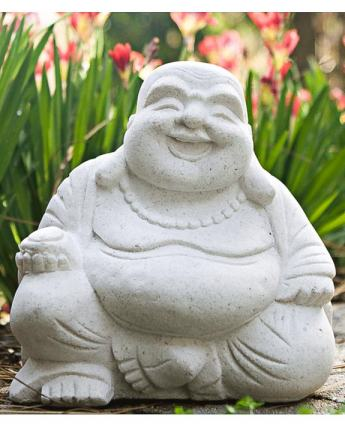 Laughing Buddha Statues in Sand Stone (Multiple Colors)