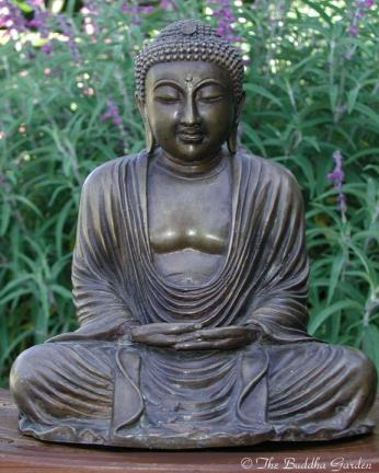 Japanese Buddha Statue In Meditation 11 Inches The