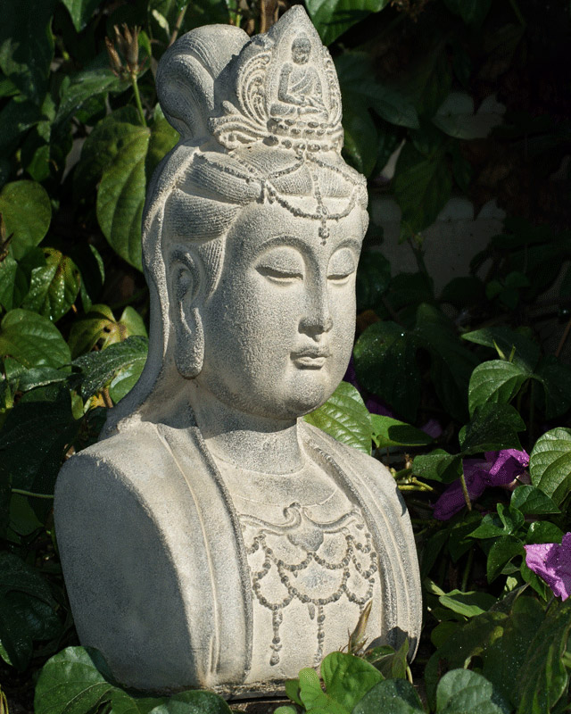 Delicieux Kuan Yin Head Statue, 12 Inches