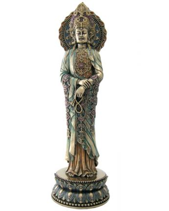 Kuan Yin Prayer Beads Statue, 16 Inches
