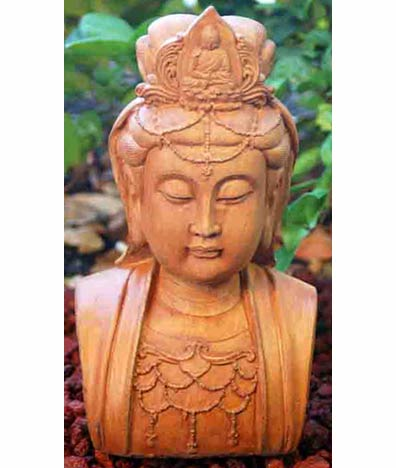 Kuan Yin Head Statue, 12 Inches