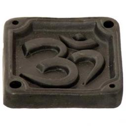 Om Incense Burner in Black Ceramic