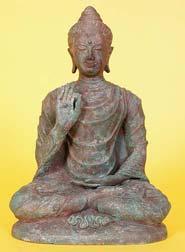 Photo of Buddha statue displaying the Vitarka Mudra