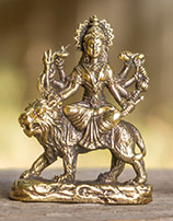 Brass statues of Durga