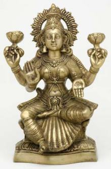 Standing Lakshmi Statue, 18 Inches
